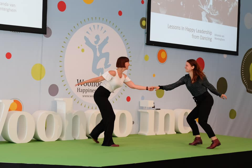 Miranda Van Wonterghem op Happiness @ Work 2019: - foto door woohoo inc.
